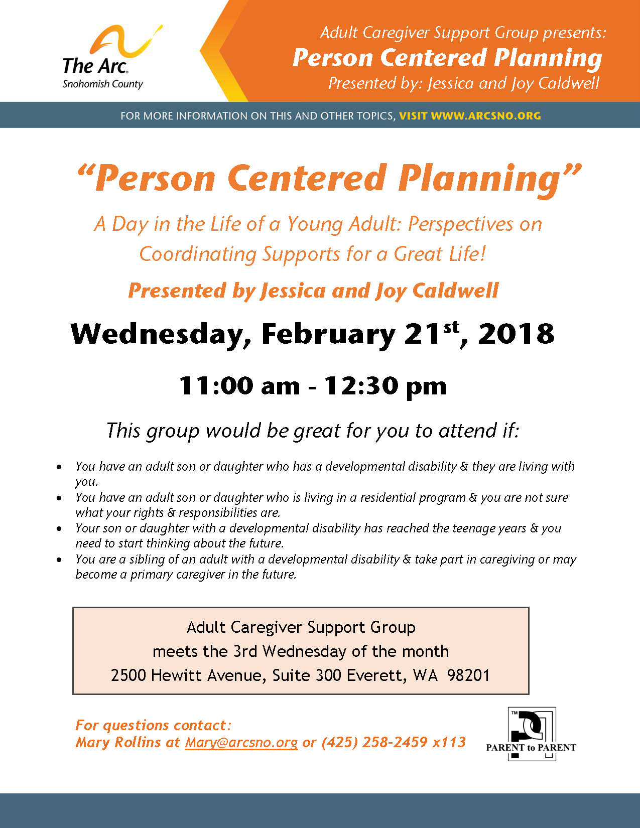 ACG Feb2018 Person Centered Planning