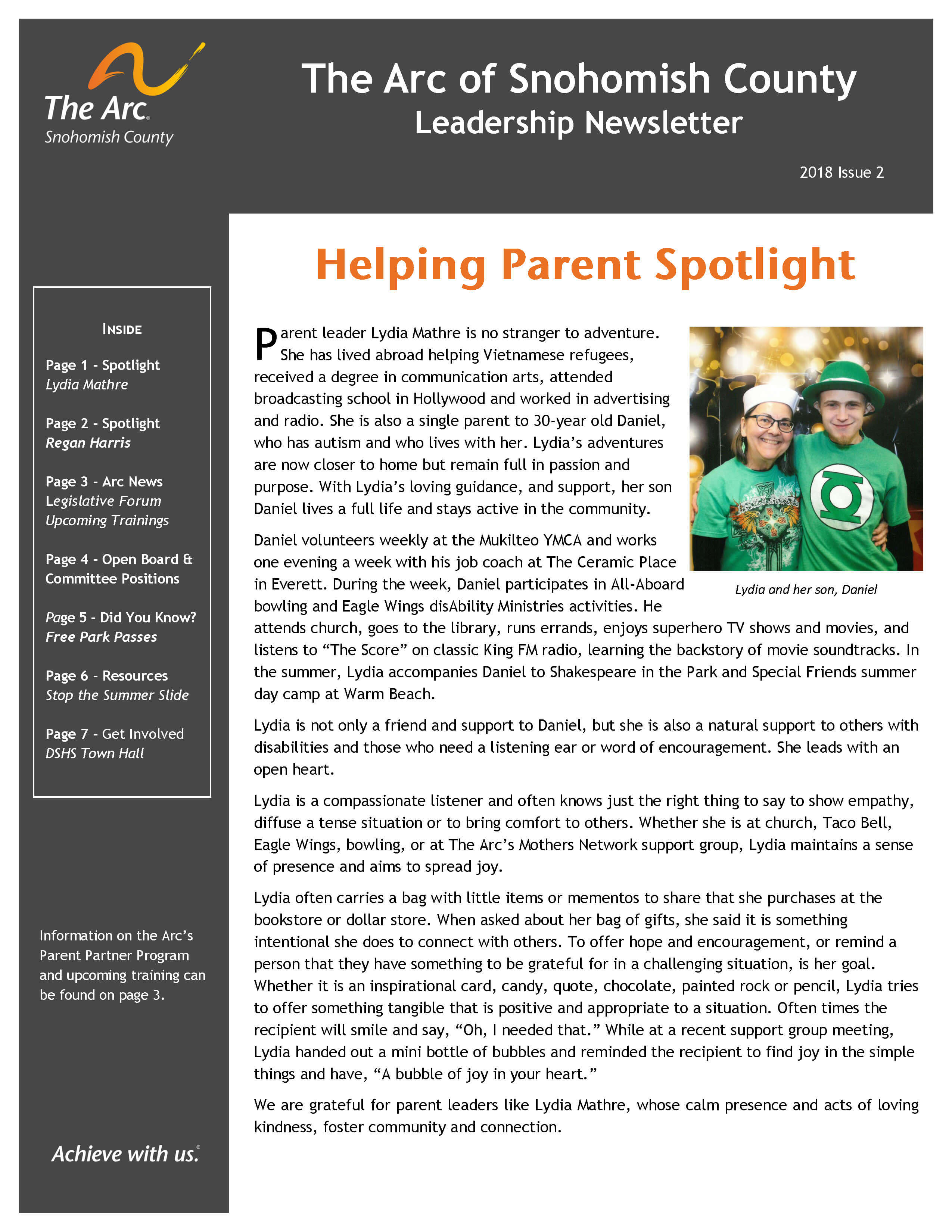 Newsletter 2018 Issue 2 Page 1