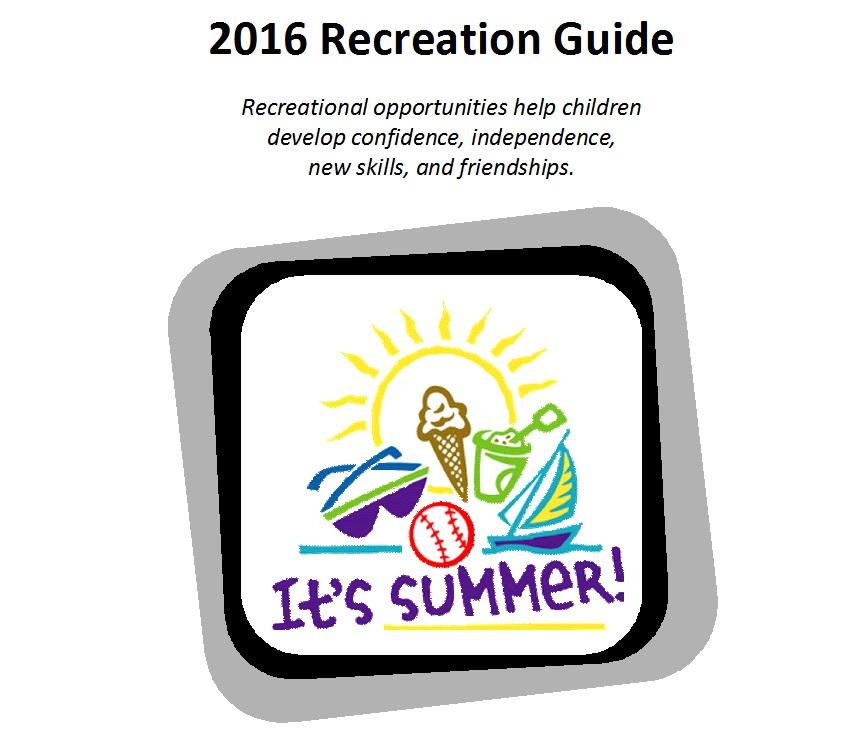 Summer Recretion Guide 2016