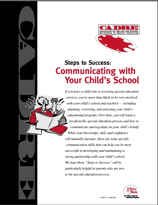 Steps to Success,  Communicating with your childs school