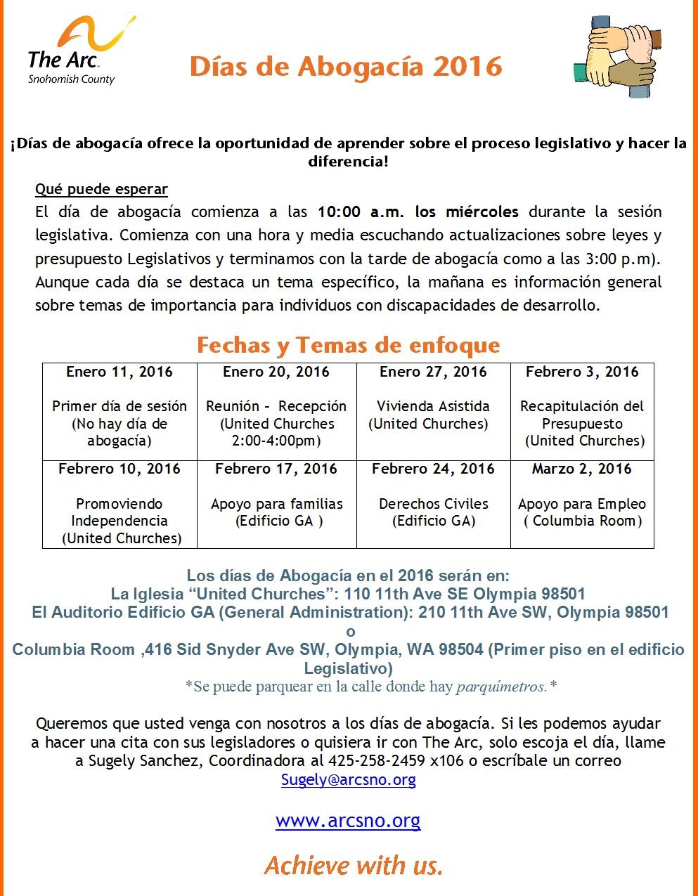 Dias de Abogacia Advocacy Days Spanish 2016