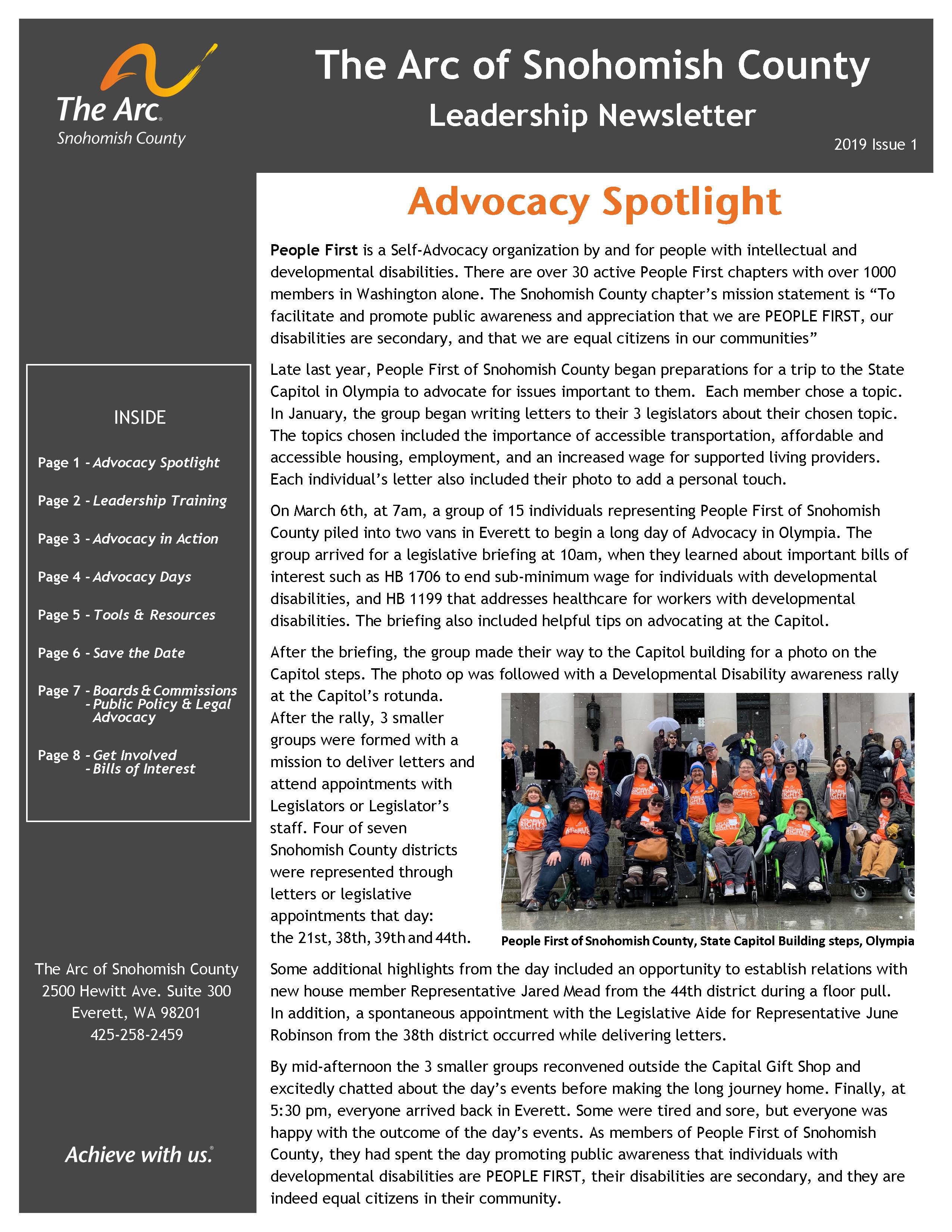 Leadership Newsletter 2019 Issue 1