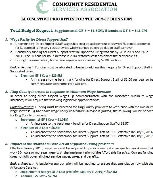 2015-17 CRSA Legislative Agenda