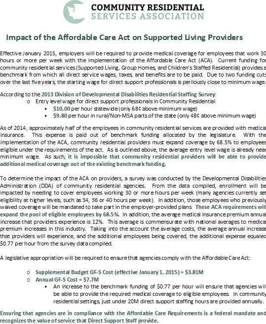 ACA Impact Position Paper