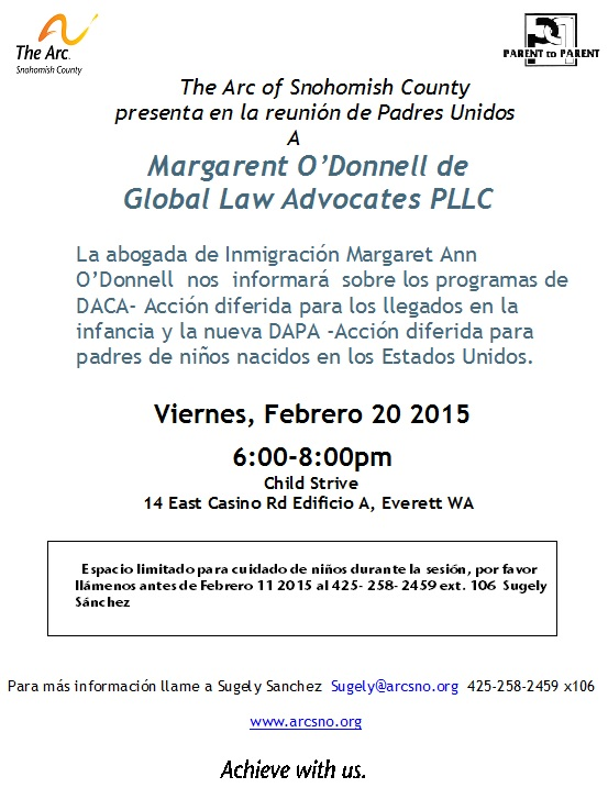 Padres Unidos   Margaret O' Donnell February 20th