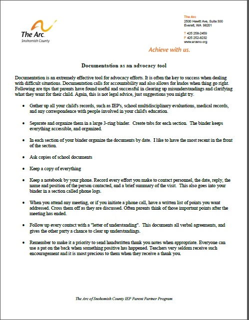 Documentation as Advocacy Final